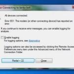 Tricks to Fix Error 651 in Windows