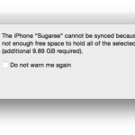 "Tricks to fix ""not enough free space'' on IOS while syncing"