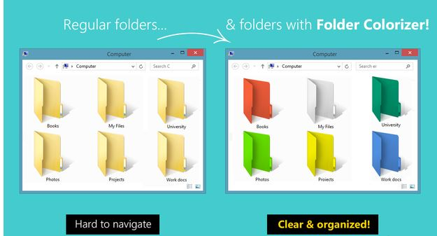 Create your own Folders of Different Colour