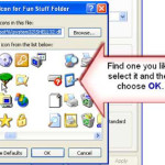 How to change icons of a folder in windows