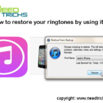 How to restore your ringtones by using itunes