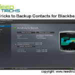 Tricks to Backup Contacts for Blackberry