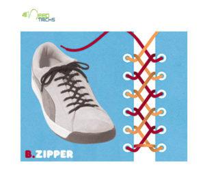 B.Zipper Shoe-laces