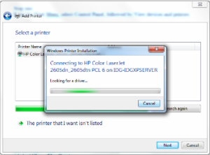 how to connect the printer to lan