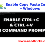 Enable Copy Paste In CMD - Windows