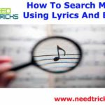 How To Search Music Using Lyrics And Beats