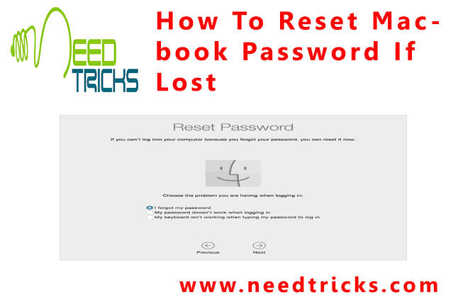 How To Reset Macbook Password If Lost