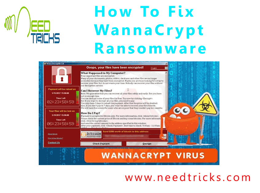 How To Fix WannaCrypt Ransomware