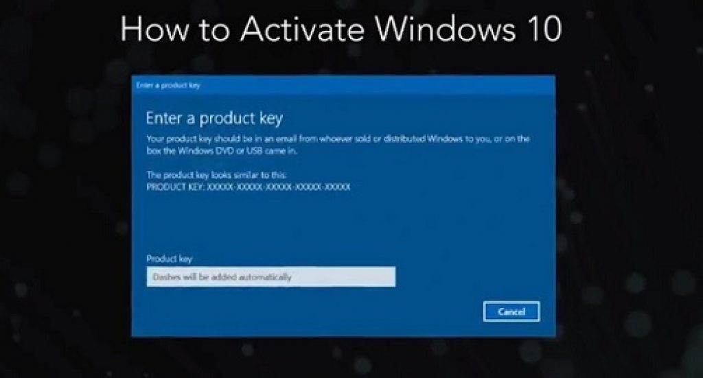 This article is step by step is guide on How to Activate Windows 10  To activate Windows 10, you need a digital license or a product key. If you're ready to activate, select Open Activation in Settings. Click Change product key to enter a Windows 10 product key. If Windows 10 was previously activated on your device, your copy of Windows 10 should be activated automatically.  About Windows 10: (How to Activate Windows 10) Windows 10 is a series of operating systems developed by Microsoft and released as part of its Windows NT family of operating systems. It is the successor to Windows 8.1, released nearly two years earlier, and was released to manufacturing on July 15, 2015, and broadly released for the general public on July 29, 2015. Windows 10 was made available for download via MSDN and Technet, and as a free upgrade for retail copies of Windows 8 and Windows 8.1 users via the Windows Store.  Windows 10 receives new builds on an ongoing basis, which are available at no additional cost to users, in addition to additional test builds of Windows 10, which are available to Windows Insiders. Devices in enterprise environments can receive these updates at a slower pace, or use long-term support milestones that only receive critical updates, such as security patches, over their ten-year lifespan of extended support.  How to Activate Windows 10: Activation of the Windows 10 operating system can be done either by activating the product key again if done so earlier. In case you activated the Windows 10 licence linking it to your Microsoft account, activation on the same device can be done easily with the digital licence. We are explaining both the methods. Please follow the steps below:  Steps to activate Windows 10 with a product key: (How to Activate Windows 10)  STEP 1: For installation of Windows 10, enter your product licence key.  STEP 2: Press the Windows key, go to Settings > Update and Security > Activation.  STEP 3: Press the Change Product key.  STEP 4: Enter yo